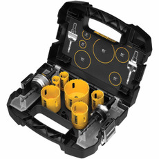 DeWalt 9 Piece Plumber Hole Saw Kit (D180001)