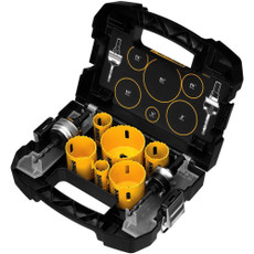 DeWalt 9 Piece Standard Electricians Bi-Metal Hole Saw Kit, D180002