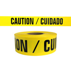 Presco Yellow Caution / Cuidado Barricade Tape 7 mil - BR357Y13