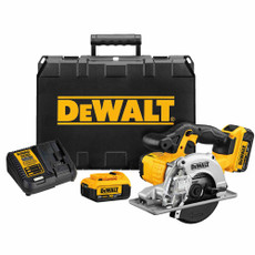 "DeWalt 20-Volt Max 5-1/2"" Cordless Metal Cutting Circular Saw Kit, DCS373M2"