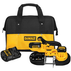 DeWalt 20-Volt Max Lithium Ion Band Saw Kit, DCS371P1