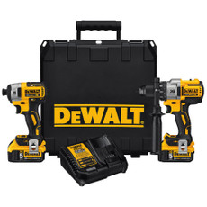 DeWalt 20-Volt MAX Lithium-Ion Cordless Brushless Combo Kit (2-Tool), DCK299P2