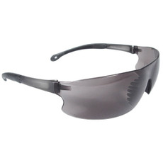 Radians Rad-Sequel Safety Glasses, Black Temple Tips, Smoke Lens, RS1-20