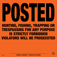 Posted Violators Will Be Prosecuted Posted Signs - Orange Aluminum (154PVOA)
