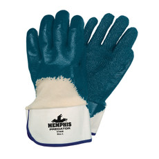 Memphis Palm & Knuckle Coated Predator Thick Nitrile Gloves, 9760R