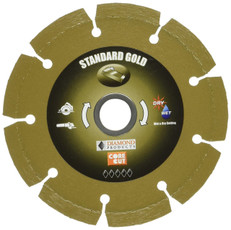 "Diamond 4.5"" x 7/8"" Standard Gold Segmented Small Diameter Blade, 11347"