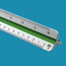 Alvin 748PM Metric Plastic Triangular Scales