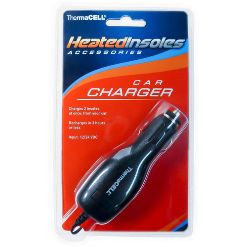 Thermacell Wireless and Rechargeable Heated Foot Warmer Insoles Car Charger