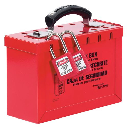 Master Lock Portable Red Group Lock Box - Latch Tight 498A