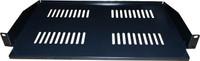 """1RU 19"""" Cantilever Shelf 267mm Deep Black Colour"""