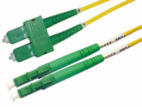 OS1 LC APC/SC APC Fibre Patch Lead 9u