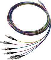 2M LC Pigtail OM1 6Pack Colour Coded, 900um Multimode Fibre