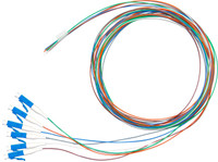 2M LC Pigtail OS1 6 Pack Colour Coded, 900um Single mode Fibre