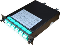 Duplex Multimode Fibre Cassette MTP OM3 12 Port LC