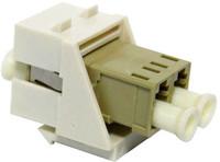 LC Duplex Multimode Keystone Face Plate Adapter