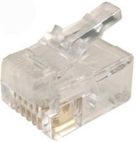 RJ-11 Plug 20pc Bag 6P4C Modular Plug
