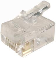 RJ-12 Plug 20pc Bag 6P6C Modular Plug