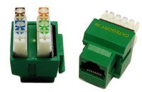 RJ-45 Cat5e Jack for 110 Face Plates Keystone Jack - Green Colour