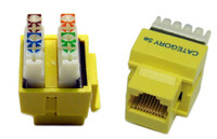 RJ-45 Cat5e Jack for 110 Face Plates Keystone Jack - Yellow Colour