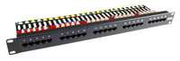 "25 Port 19"" Voice Rated Patch Panel Unshielded"