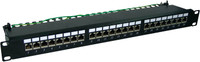 "24 Port 19"" Cat6A Shielded Patch Panel"