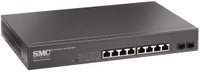 SMC 8 Port Gigabit PoE Smart Managed Ethernet Switch with 2 SFP Ports