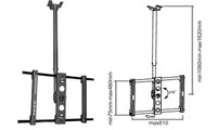 "37-63"" Single Ceiling Mount Bracket for LCD/Plasma TV"