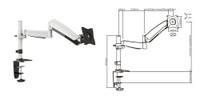 "13-24"" Counter Balance LCD Desk Mount. Max arm reach 500mm"