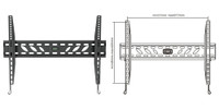 "37-70"" Fixed Wall Mount Bracket for LCD/LED. Max Load 50kg TV to Wall: 26mm"