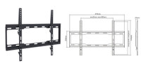 "37-70"" Fixed Wall Mount Bracket for LCD/Plasma TV Fixed Rails"