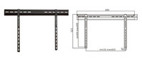 "32-63"" Ultra Thin Wall Mount Bracket for LCD/Plasma TV"
