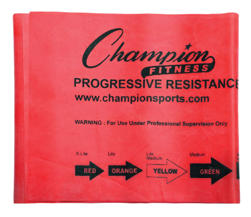 3.3 LB RESISTANCE THERAPY & EXERCISE FLAT BAND RED