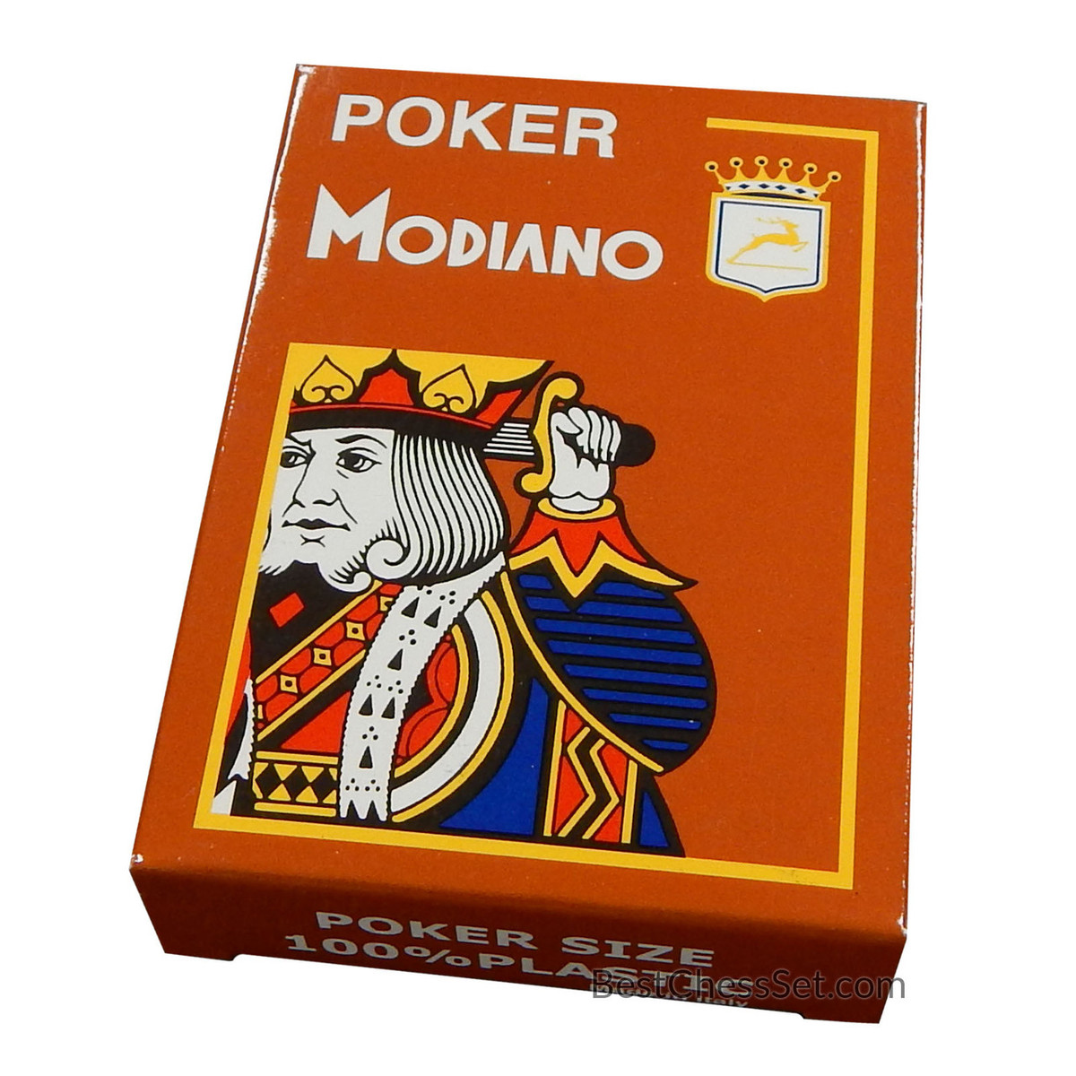 Poker cards modiano italian poker game playing cards brown poker