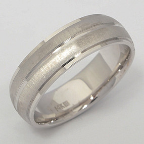 Men's White gold Wedding Band pgwb154-gold-wedding-band