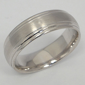 Men's White gold Wedding Band pgwb118-gold-wedding-band
