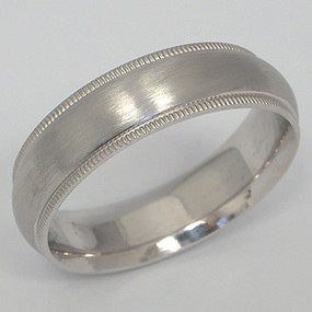 Men's White gold Wedding Band pgwb115-gold-wedding-band