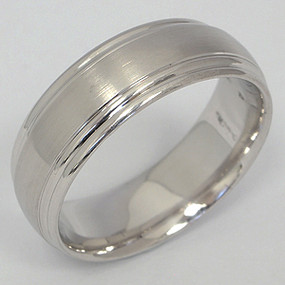 Men's White gold Wedding Band pgwb111-gold-wedding-band