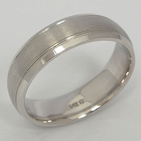 Men's White gold Wedding Band pgwb103-gold-wedding-band