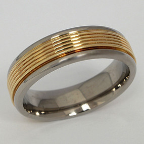 Men's Titanium Wedding Band tita142-titanium-wedding-band