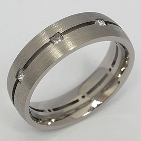 Men's Titanium Wedding Band tita129-titanium-wedding-band