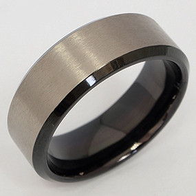 Men's Titanium Wedding Band tita122-titanium-wedding-band
