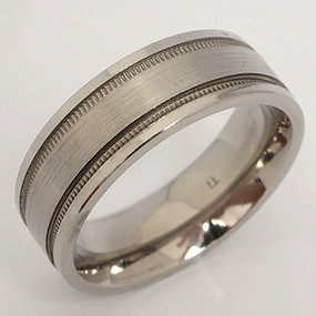 Men's Titanium Wedding Band tita111-titanium-wedding-band