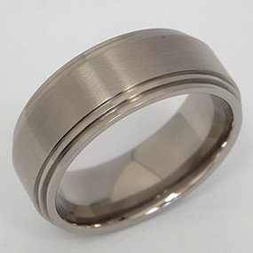Men's Titanium Wedding Band tita107-titanium-wedding-band