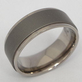 Men's Titanium Wedding Band tita106-titanium-wedding-band