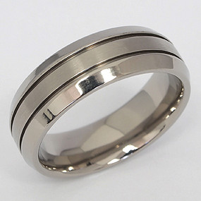 Men's Titanium Wedding Band tita104-titanium-wedding-band