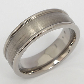 Men's Titanium Wedding Band tita103-titanium-wedding-band