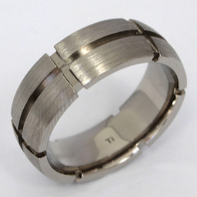 Men's Titanium Wedding Band tita102-titanium-wedding-band