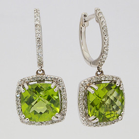 Lady's Colored Stone Earring cear124-gem-stone-earring