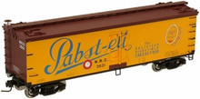 Atlas O Pabst-ett (blue letters) 40' wood reefer, 3 rail or 2 rail  car