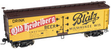 Atlas O Old Heidelberg Beer (Version 2) 40' wood reefer, 3 rail or 2 rail  car